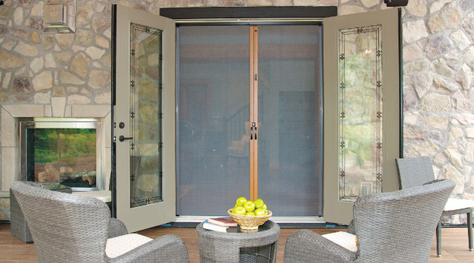 Our recent projects wizard screens premium retractable for Hidden screens for french doors